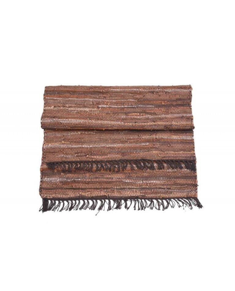 alfombra-piel-reciclada-marrón-70x140cm